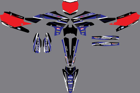 Kit Déco YAMAHA YZF 450 2018-2019 BLUE RED