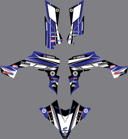 Kit Déco YAMAHA YFZ450R RAPTOR 450 2014-2018 BLUE