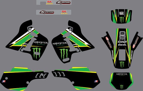 Kit déco KAWASAKI KDX 200 1991-1994 MONSTER