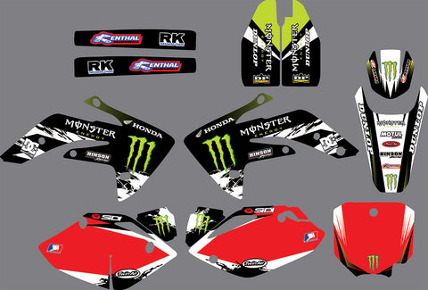 Kit Déco HONDA CRF 150 2007-2018 MONSTER GREEN RED