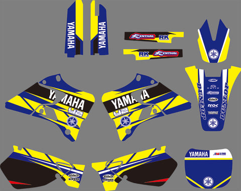 Kit déco YAMAHA YZ 125-250 1996-2001 BLUE YELLOW