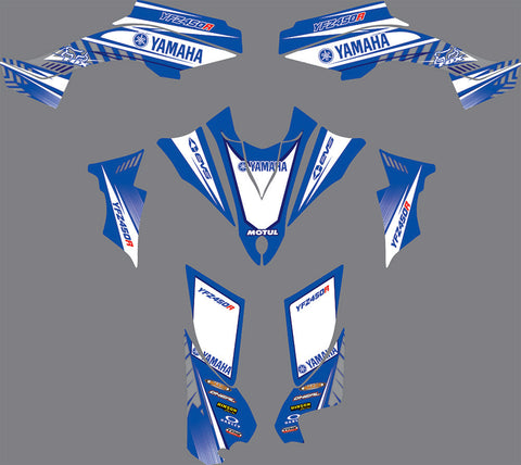 Kit Déco YAMAHA YFZ450R RAPTOR 450 2014-2018 BLUE ORIGINAL