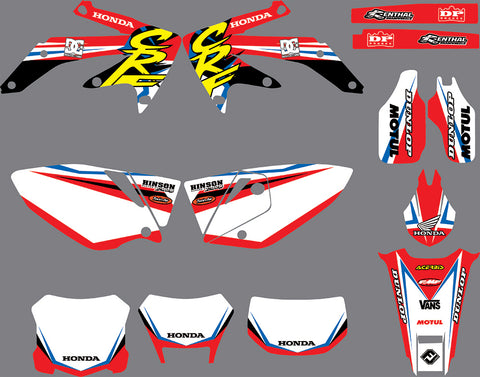Kit Déco HONDA CRF 450 2005-2008 ORIGINE