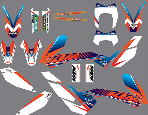 Kit Déco KTM 690 SMC 2008-2011 ORANGE BLUE