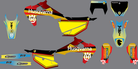 Kit Déco HUSQVARNA TC / FC / TX / TE / FE 2019-2020 HOT COLOR
