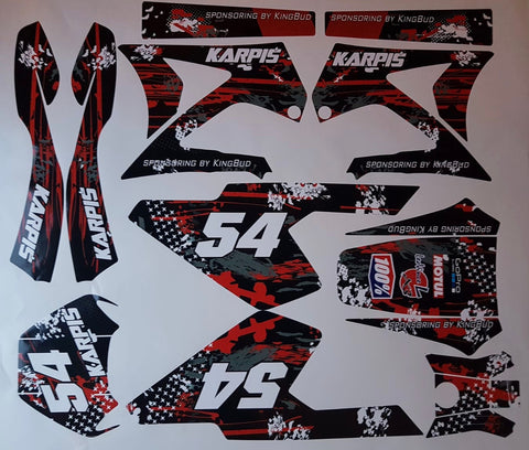 Kit Déco GILERA SMT / RCR AVANT 2011 BLACK RED