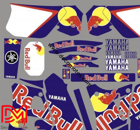 Kit Deco Yamaha Dtr 125 1992-2003 Red Bull Black