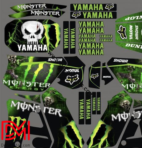 Kit Deco Yamaha Dtr 125 1992-2003 Black Monster