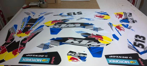 Kit Déco KTM SX 85 2013-2017 RED BULL BLUE