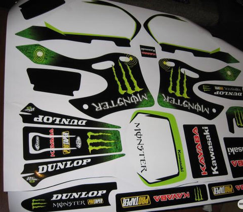 Kit Deco KAWASAKI KX 125-250 1999-2002 MONSTER