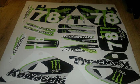 Kit Deco KAWASAKI KX 125-250 1994-1998 MONSTER