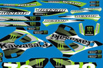 Kit Deco KAWASAKI KX 125-250 1994-1998 MONSTER #2
