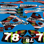 Kit Deco KAWASAKI KX 125-250 1994-1998 MONSTER RED