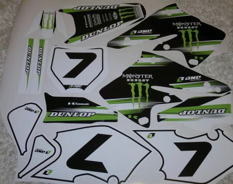 Kit Deco KAWASAKI KXF 250 2004-2005 MONSTER #1