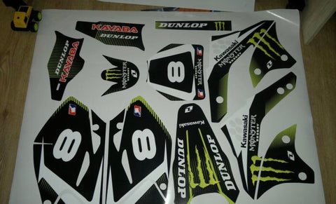 Kit Deco KAWASAKI KXF 450 2006-2008 MONSTER #2