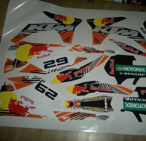 Kit Déco KTM SX SXF 2011-2012 RED BULL