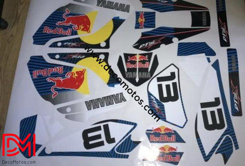 Kit Deco Yamaha Dtr Dtx 125 2004-2006 Red Bull