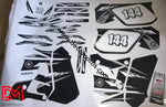 Kit Deco Yamaha Dtr Dtre 125 1992-2003 White #1