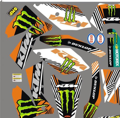 Kit Déco KTM EXC 2004-2007 MONSTER