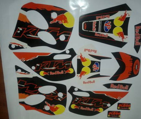 Kit Déco KTM 125 LC2 RED BULL #1
