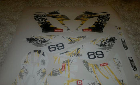 Kit Déco DERBI DRD RACING 2004-2009 YELLOW