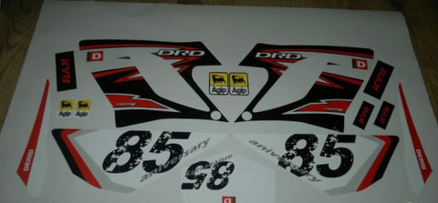 Kit Déco DERBI DRD RACING 2004-2009 85th ANNIVERSARY ROUGE