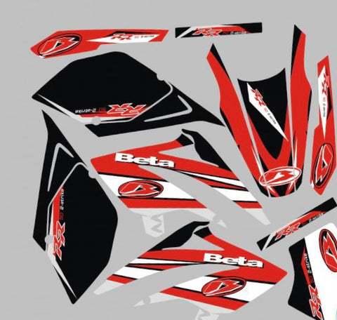 Kit Déco BETA 50 RR 2006-2010 ORIGINE ROUGE