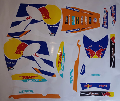 Kit Déco KTM 125 LC2 RED BULL #3
