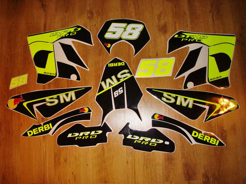 Kit Deco DERBI DRD PRO (Fluo en option)