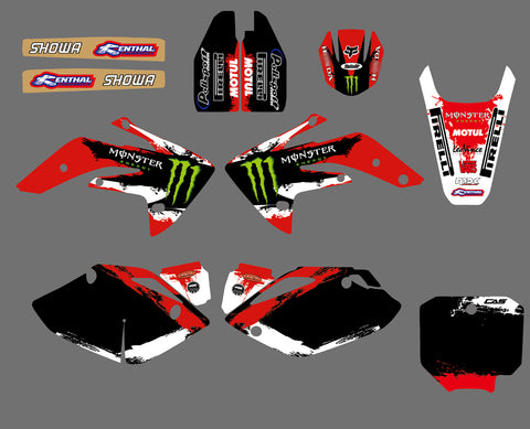 Kit Déco HONDA CRF 150 2007-2018 RED MONSTER
