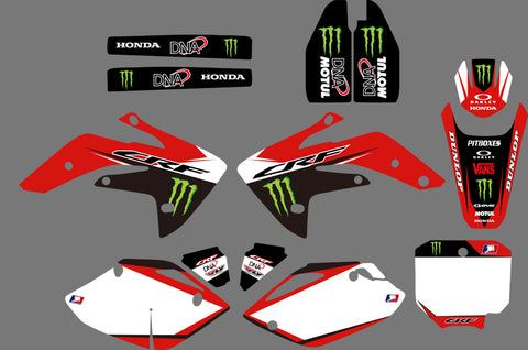 Kit Déco HONDA CRF 150 2007-2018 MONSTER GREEN RED #2