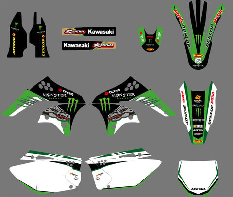Kit Déco KAWASAKI KXF 250 2006-2008 MONSTER