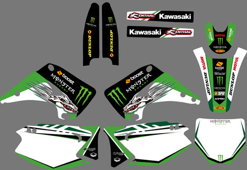 Kit Déco KAWASAKI KX 125-250 2003-2012 MONSTER #3