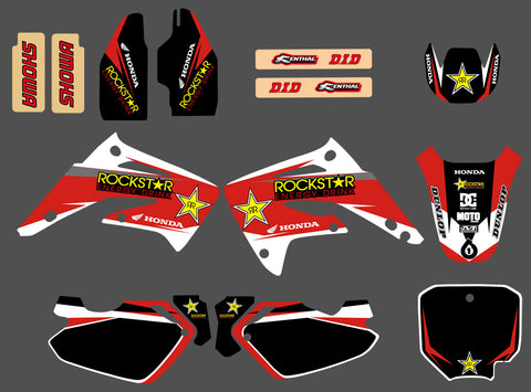 Kit Déco HONDA CR 85 2003-2012 RED ROCKSTAR
