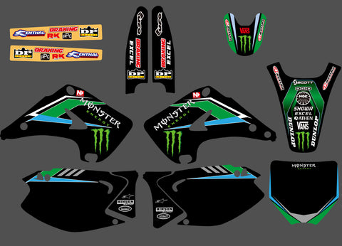 Kit Déco KAWASAKI KX 125-250 2003-2012 MONSTER #4