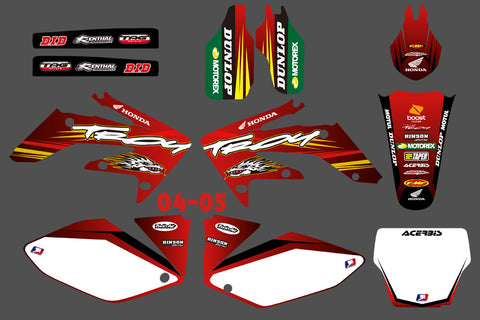 Kit déco HONDA CRF 250 2004-2009 TROY