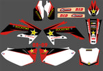 Kit déco HONDA CRF 250 2004-2009 ROCKSTAR RED