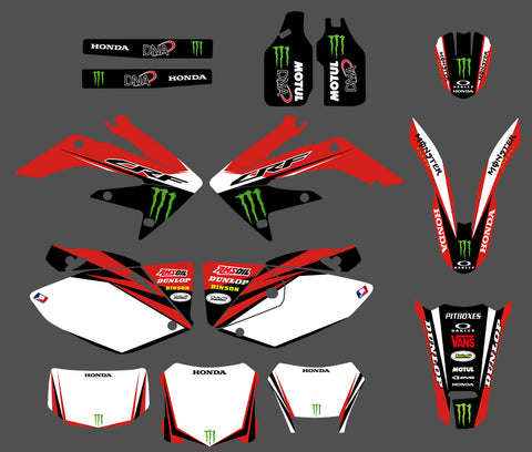 Kit déco HONDA CRF250X 2004-2016 MONSTER