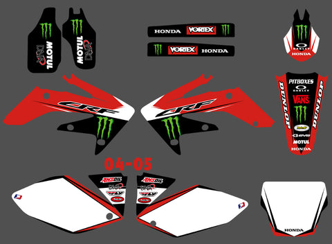 Kit déco HONDA CRF 250 2004-2009 RED MONSTER