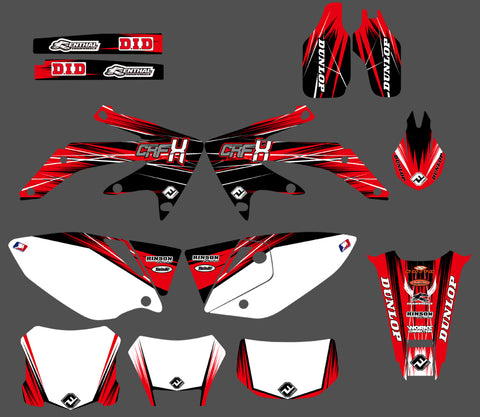 Kit déco HONDA CRF450X 2004-2016 FACTORY