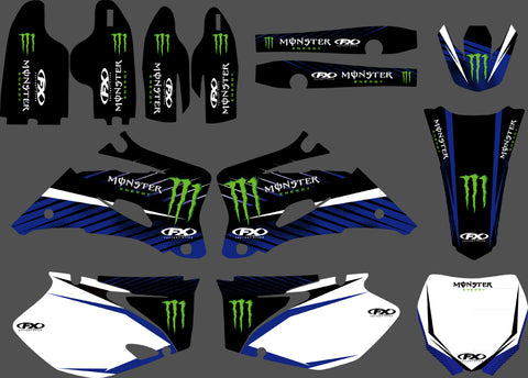 Kit Déco YAMAHA YZF 2006-2009 MONSTER BLUE