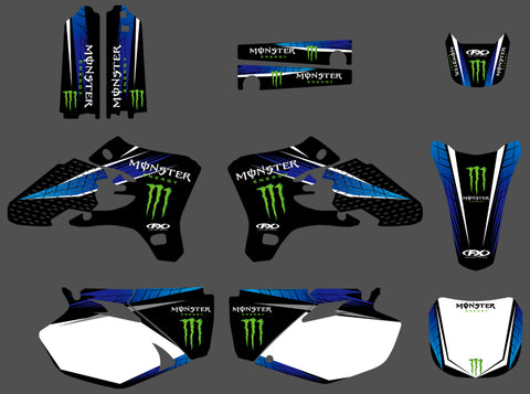 Kit Déco YAMAHA YZF 250-450 2003-2005 MONSTER BLUE
