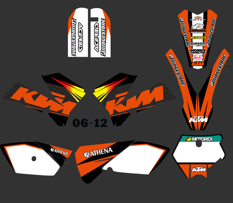 Kit déco KTM SX 85 2006-2012 SIMPLE BLACK