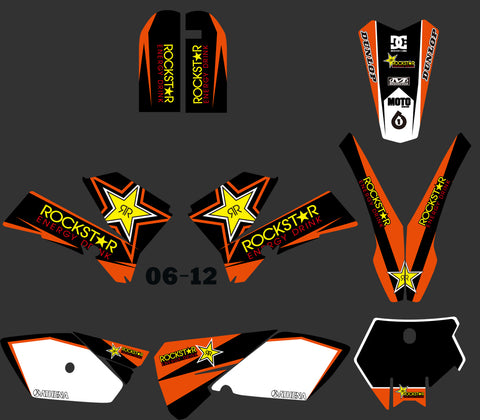 Kit déco KTM SX 85 2006-2012 ROCKSTAR ORANGE