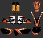 Kit Déco KTM SX 85 2003-2005 ORANGE SIMPLE