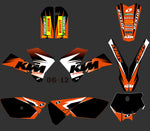 Kit déco KTM SX 85 2006-2012 ORIGINE ORANGE