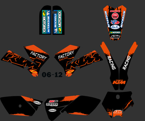 Kit déco KTM SX 85 2006-2012 FACTORY