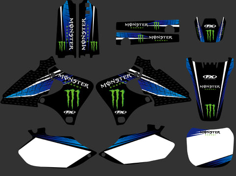 Kit Déco YAMAHA YZF 250 - 426 1998-2002 BLUE MONSTER
