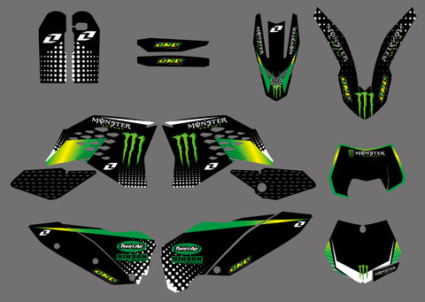 Kit Déco KTM EXC EXC-F SX SX-F 2007-2011 GREEN MONSTER