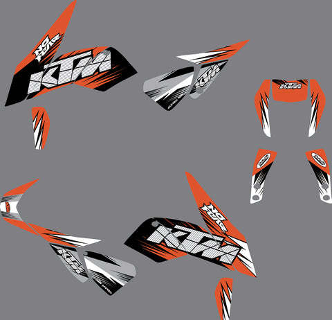 Kit déco KTM 690 DUKE 2012-2019 NO FEAR